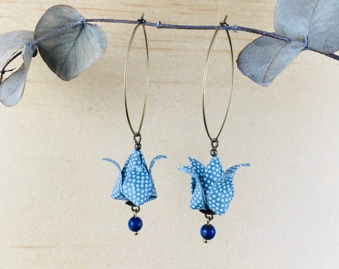 Origami tulips earrings