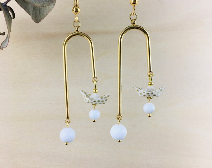 Origami boats earrings - Choose your color