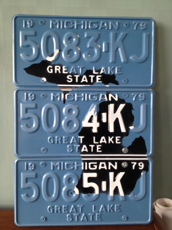 Michigan License Plate Wall Art 1979