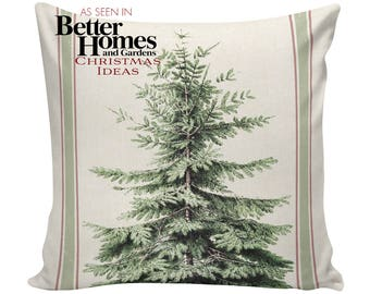 Cushion Cover, Christmas Pillows, Christmas Pillow Covers, Couch Pillows, Throw Covers, Sofa Pillows, Made in USA, Burlap Pillows, #EHD0139