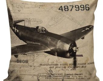 Military Plane Pillow  MI-01
