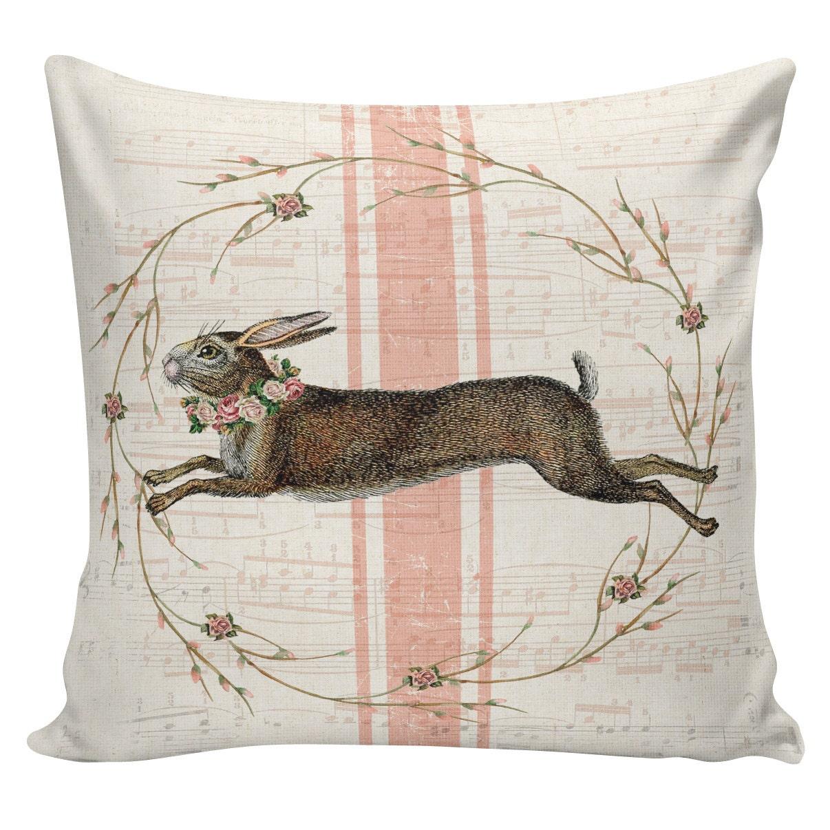 Easter Pillows Bunny Pillows Easter Decor Burlap Pillow Etsy