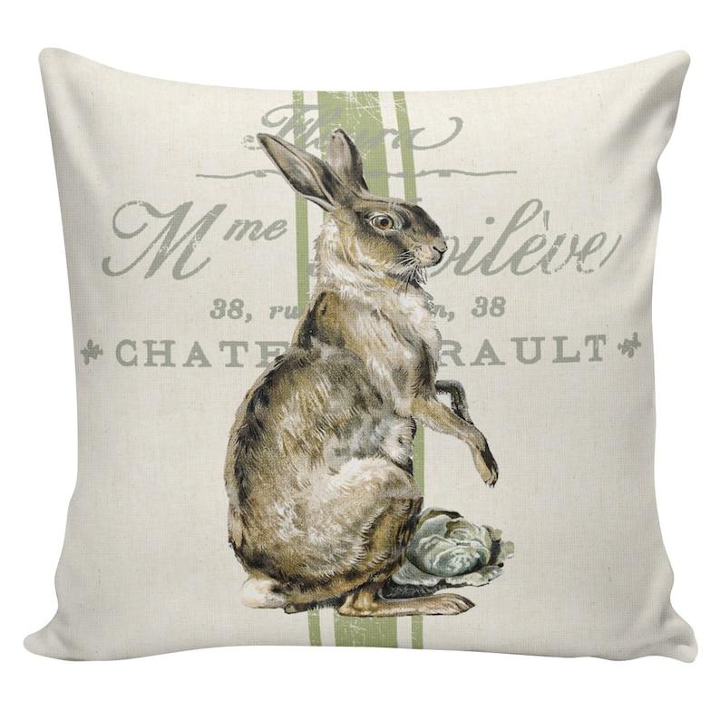 Easter Pillows Couch Pillow Bunny Pillows Sofa Pillows Easter Decor French Pillows #EHD0111 Cushion Covers Burlap Pillow Cover