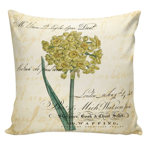 Easter Pillows Daffodils Spring Pillows Throw Pillow Etsy