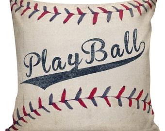 Play Ball, Cushion Covers, Baseball Pillows, Boys Pillows, Sports Decor, Play Ball Pillow, Sofa Pillow, Throw Covers, Baseball, #BB0012