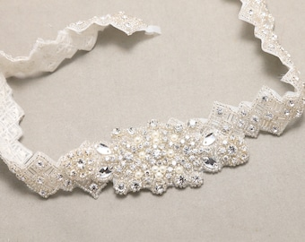 Pearl Crystal Belt Sash Applique 620ffcc9cc4e