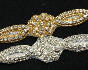 FREE SHIP - Rose Gold Gold Silver diamante rhinestone crystal applique fd7c74dafeb5