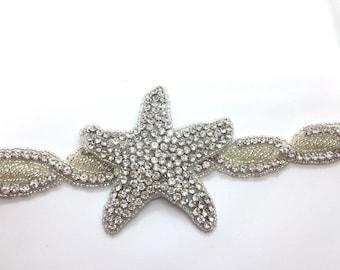 Starfish Iron Sew On applique trim d91df532f5fd