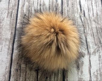 """4""""/6"""",10cm/15cm,Brown Faux fur Pom Pom, Furry pom pom, Large Fur Balls, Pom Pom, Fur Ball, Fox Fur Pom Pom"""