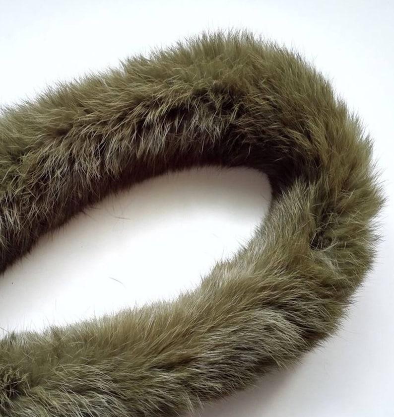 Dark Green Fur Trim Furry stripe Rabbit Fur stripe Rabbit Fur Trim Large Fur Stripe Burgundy Fur Trim Blue Fur Trim Sewing Craft