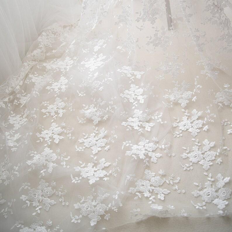 BlackCream Flower Lace Rose Lace Veil Lace Vintage Lace Off White Ivory Lace Bridal Lace Wedding Lace Wedding Dress Fibre Lace