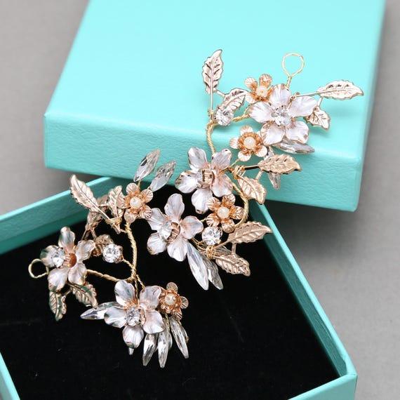 Gold Headpiece Wire DIY Handmade Flower Tiara Supply Wedding | Etsy