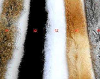White Fur Trim, Grey Brown Cream Fur Trim, Rabbit Fur Trim, Long Fur, Rabbit Fur stripe, Furry stripe, Large Fur Stripe,  Fur Long Trim