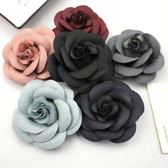 2 Pieces Blue Flowers Black Flowers Grey Flowers Burgundy Etsy