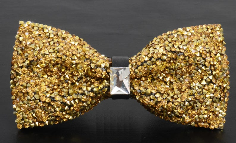 Gold bow Gold Bow Applique Crystal Applique Bow Patch image 0