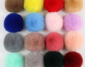 10 Pieces - 6cm,7cm,8cm, FAUX rabbit fur Pom Pom, Furry pom pom, Large Fur Balls, Pom Pom, Fur Ball, FAUX Rabbit Fur Pom Pom