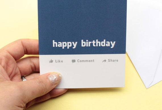 Funny Joke Birthday Card For Facebook Social Media Addict Friends