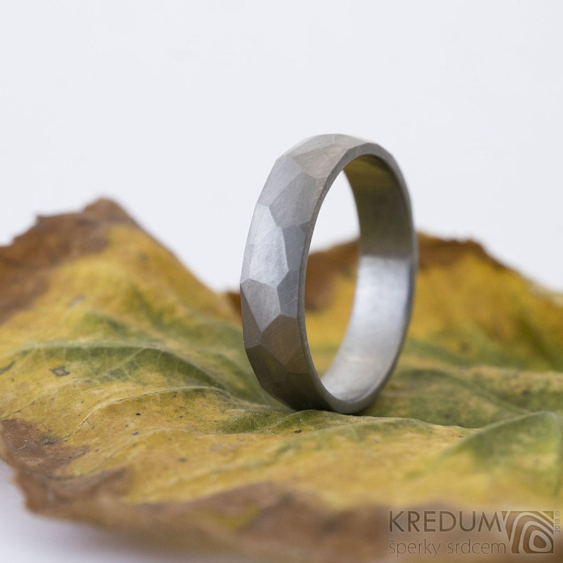 e1e36944981db Titanium WEDDING Band - Custom Made - Simple HANDMADE Mens or Womens Domed  Titanium Ring - Comfort fit possible - Matte or Shiny - Rocky