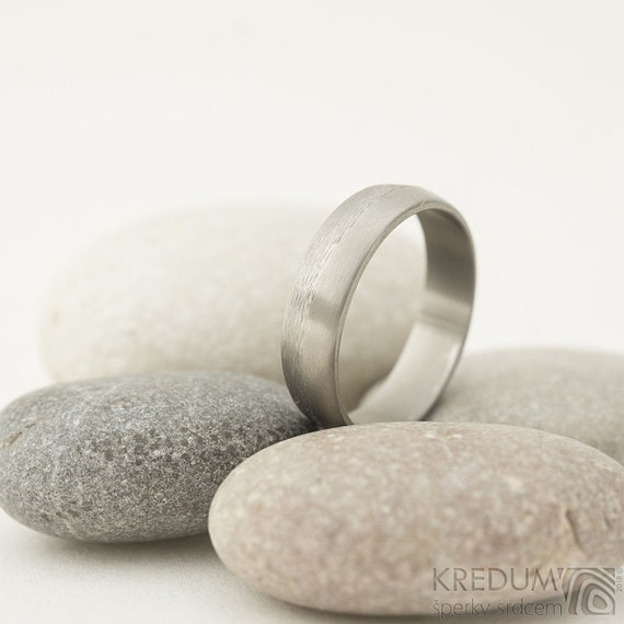 Titanium Wedding Band Handmade Simple Wedding Ring Womens Etsy