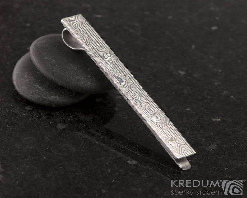 011db52e0e47 LUXURY tie clip Handmade damascus steel mens jewelry unique | Etsy