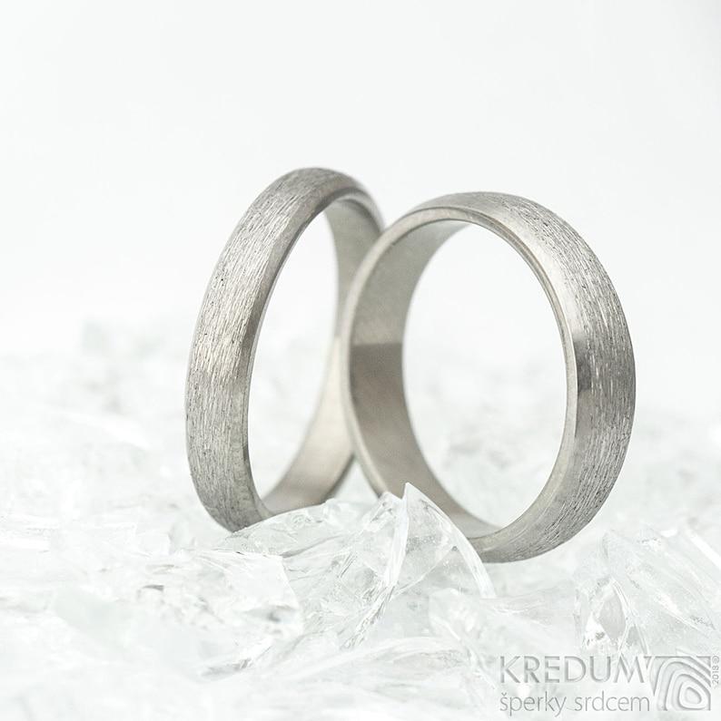 6be918ac2881b TITANIUM Simple Wedding Band - Custom Made - HANDMADE Wide or Narrow  Wedding Ring for Woman or Man - Lightweight Plain Ring - Classic Line
