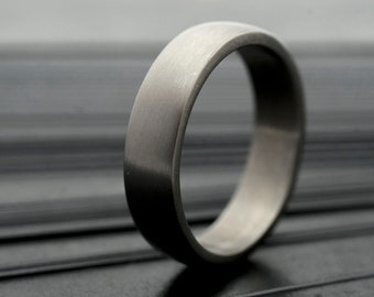 TITANIUM Simple Wedding Band – CUSTOM Made - Matte or Polished Plain Band for Man or Woman - Personalized Womens or Mens Ring - Prima