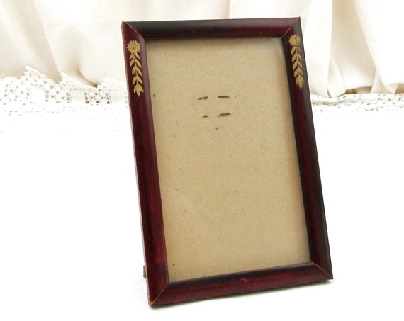 Antique French Free Standing Portrait Photograph Wooden Frame in the Empire Style, Retro Picture Frame from France, Brocante Country Decor