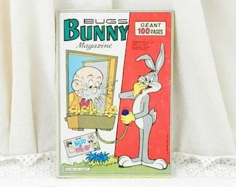Vintage Français 1984 Bugs Bunny Magazine de bande dessinée, Collection roman graphique, rétro Super héros, bande dessinée de la France, les enfants / enfants livre
