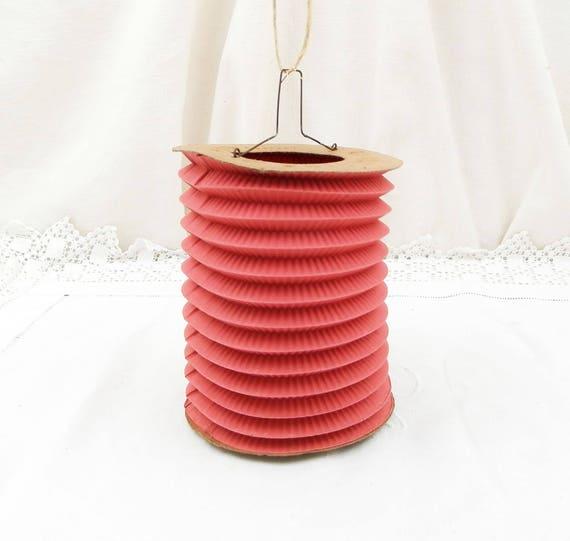 "Antique French Paper Lantern ""La Cycyliste Paris"" Guinguette / Musette Candle Lights in Excellent Condition, Lamp, Lights, Wedding, Home"