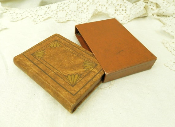 Small Antique French Leather Bound Religious Book, Liturgical Book of the Roman Rite with Box / French Decor / Catholic Religion / Christian