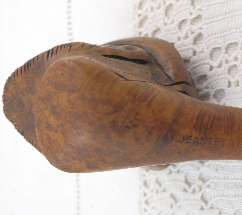 Vintage 1920\u2019s-30\u2019s Hand Cut Briar Full Male Lion\u2019s Head Wood NOS Pipe Tobacciana Collectible Smoking Memorabilia Hipster Cottage Chic Folk
