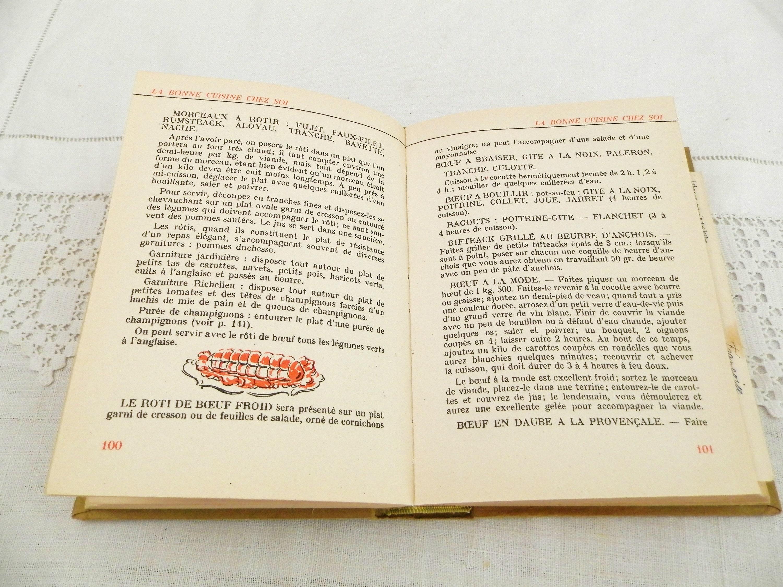 Cuisine Fermée En U vintage 1950s cook book la bonne cuisine chez soi fernand
