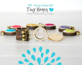 "DIY Tiny Embroidery Hoop Frame Kit - 1""/2.5CM Embroidery Hoop - Miniature Embroidery Hoops - One inch hoop frame - Mini Embroidery Hoop"
