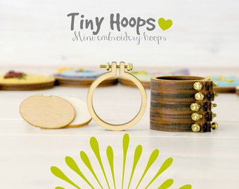"DIY Tiny Embroidery Hoop Frame Kit - 1.6""/4CM Embroidery Hoop - Miniature Hoops - DIY Mini Hoop Kit - Necklace Hoop Kit - Brooch Hoop Kit"