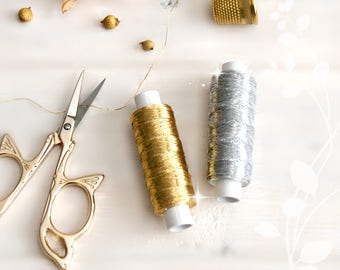 Metallic Embroidery Thread - Metallic Gold Thread - Silver Thread - Metallic Embroidery Thread - Gold Thread - Metallic Lame Threat
