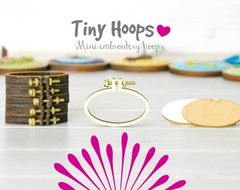 DIY Tiny Embroidery Hoop Frame Kit - 45mm x 27mm - Necklace Embroidery Hoop Frame - Oval Mini Embroidery Hoop - Mini Oval Hoop Brooch Kit