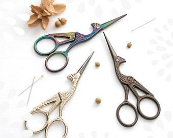 Heron Embroidery Scissors - Small Road Runner Scissors - Bronze Heron Scissors - Gold Heron Scissors - Crane Snips, Roadrunner Snips - Snips