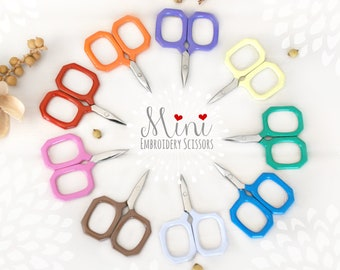 Embroidery Scissors - Colorful Mini Scissors - Shears - Ribbon Scissors - Mini Scissor- Little Gems Embroidery Scissors - Cute Mini Scissors