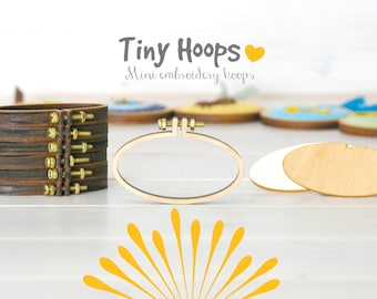 DIY Mini Embroidery Hoop Frame - 62mm x 34mm Oval Embroidery Hoop - Miniature Embroidery Hoops - DIY Tiny Hoop Kit - Mini Oval Hoop Frame L