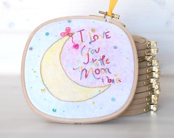 """Square Embroidery Hoop - 6.5"""" x 6.5"""" Wooden Embroidery Hoop - Embroidery Hoop - Wooden Hoops - Square Wooden Hoops - 15cm Square Hoop"""