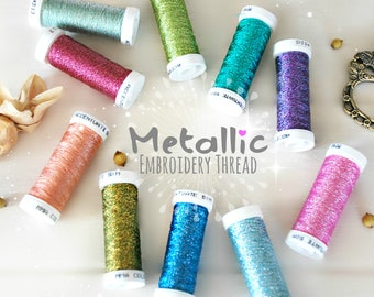 Metallic Embroidery Thread - Accentuate Metallic Filament Thread - Metallic Thread - Metallic Filament for Embroidery - Stitching Thread