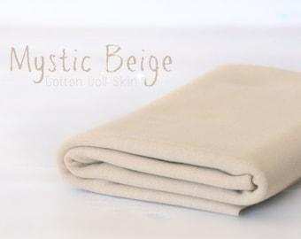 Beige Doll Skin - 100% Cotton Round-knitted Jersey - 1/2 Meter Doll Jersey - Waldorf Doll Fabric - Mystic Beige - DS116 - De witte Engel