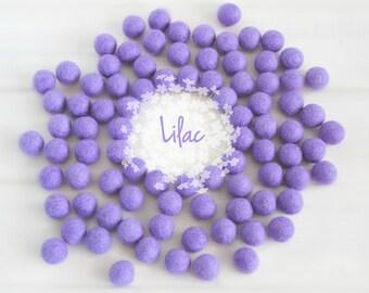 Wool Felt Balls - Size, Approx. 2CM - (18 - 20mm) - 25 Felt Balls Pack - Color Lilac-3050 - Felt Balls - Felt Pom Poms - Lilac Felt Balls