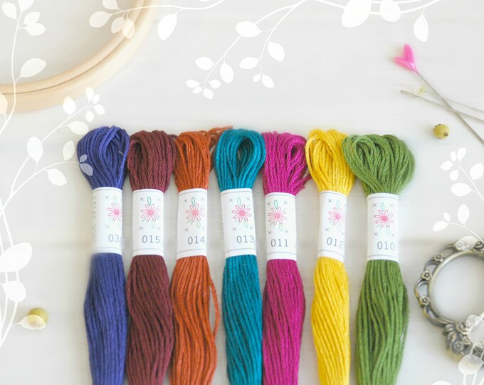 "Featured listing image: Embroidery Floss ""Laurel Canyon"" - 7 Skeins Pack - Embroidery Thread by Sublime - Embroidery Thread - Sublime Stitching - Cotton Floss"