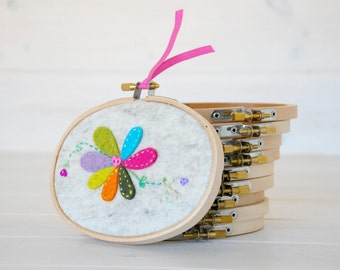 "2-Pack - 3.5"" x 5"" Wooden Embroidery Oval Hoop - Embroidery Accessories - Wooden Oval Hoops - Woodcrafts - Needlepoint Accessories"