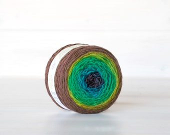 Hand Dyed Gradient Yarn - 100% Wool - Color: Vertigo Ombre - 1Ply Sport Yarn - Colorful Soft Yarns by Freia - Beautiful Sport Wool Yarn