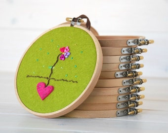 "6 - pack - 5"" or 6"" Wooden Embroidery Hoop - Embroidery Accessories - Wooden Hoops - Needle Crafts - 6"" hoops - 5"" hoops - Embroidery Frames"