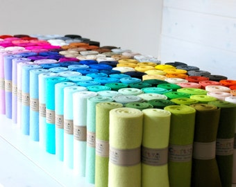 "100% Wool Felt Roll  - 5"" x 36"" Wool Felt Roll - Colorful Wool Felt - European Wool Felt - Pure Merino Wool Felt - Felt Rolls - FINAL SALE"
