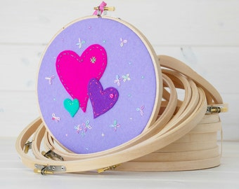 "Embroidery Hoops - 2pack, 4pack or 7pack - 3"", 4"", 5"", 6"", 7"", 8"" & 9"" - Needlepint - Embroidery Hoops - Mix and Match - Choose your sizes"