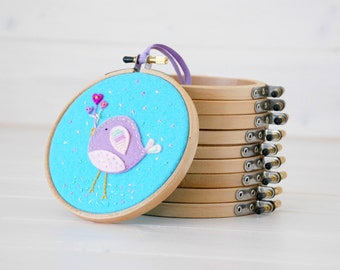 """4""""  Round Edge Wooden Embroidery Hoop - Embroidery Accessories - Smooth Edge Embroidery Hoops - Mini Wooden Hoops - Wall Art Hoops - Hoops"""